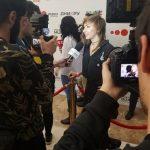 Певица ZVEZDA на красной дорожке премии MusicBox