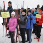 Лыжи + лужи = команда